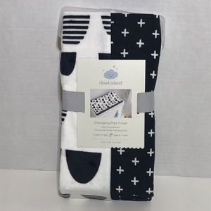 Black & White Patterned Changing Pad Cover